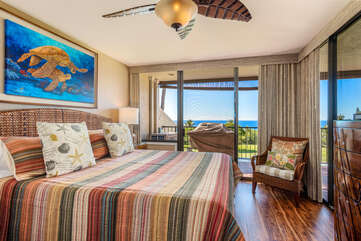 Master Bedroom with King Bed & Ocean Views!
