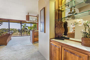 Entryway to the living and dining area.
