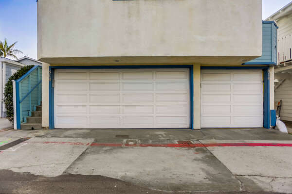 Garage Parking - 3 Spaces Total