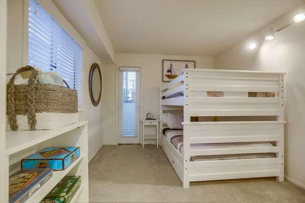 Bunk Room Full/Full Bunks with Twin Trundle- Lower Level