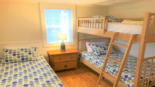Bedroom # 3: Bunk beds and a twin, perfect for the kids! - 19 Burton Ave West Harwich Cape Cod - New England Vacation Rentals
