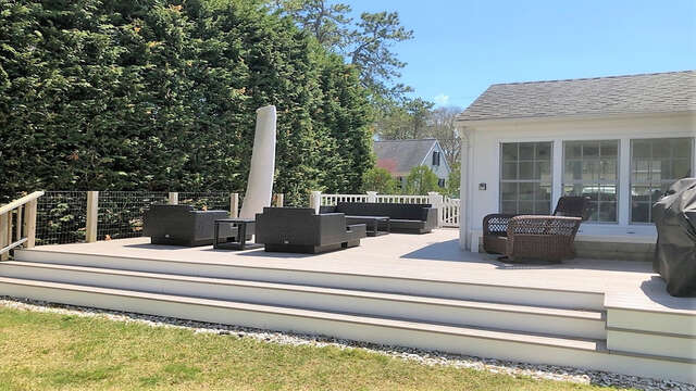 Extra large Azek deck for your enjoyment - 19 Burton Ave West Harwich Cape Cod - New England Vacation Rentals