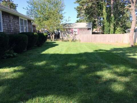 Spacious fenced in yard - 19 Burton Ave West Harwich Cape Cod - New England Vacation Rentals