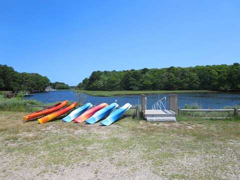 Just up the street, kayaks for rent on the river! - West Harwich Cape Cod - New England Vacation Rentals
