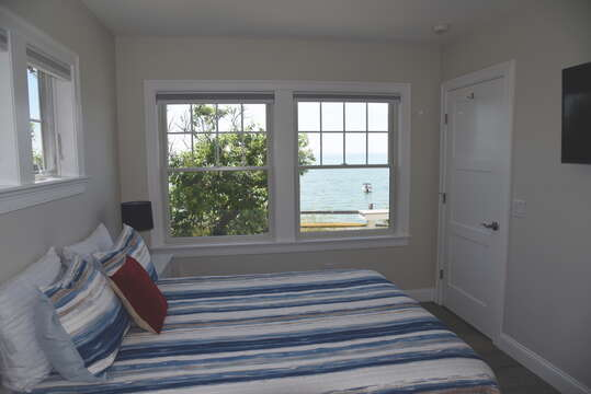 1st floor bedroom with Queen bed with View-  1 Bayberry Lane Eastham Cape Cod - New England Vacation Rentals