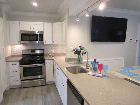 Fully equipped kitchen with dishwasher-  1 Bayberry Lane Eastham Cape Cod - New England Vacation Rentals