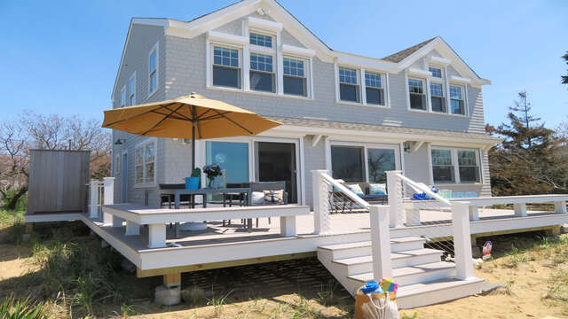Back View of Beachfront Home-1 Bayberry Lane Eastham Cape Cod - New England Vacation Rentals