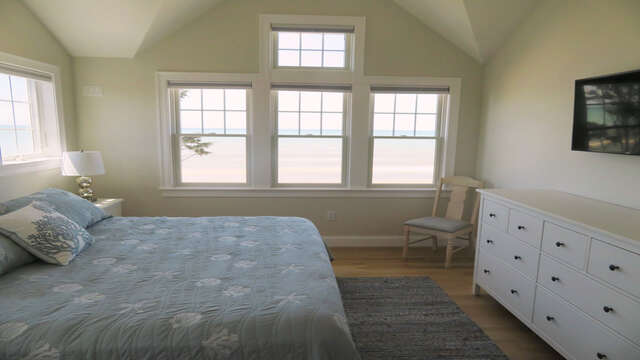 Bedroom 2 on 2nd floor with King Size bed and 40 inch flat screen TV-  1 Bayberry Lane Eastham Cape Cod