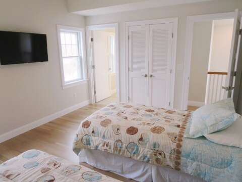 40 in Flat screen Tv and view to Ensuite bath-  1 Bayberry Lane Eastham Cape Cod - New England Vacation Rentals