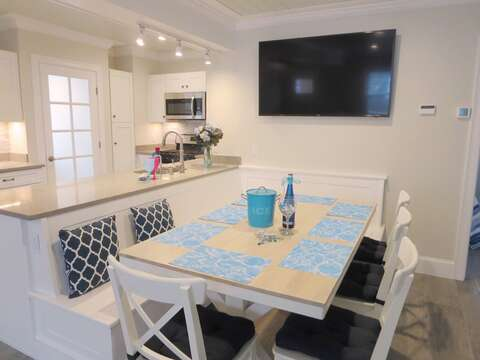 Large 60 Inch flat screen in the main living area-  1 Bayberry Lane Eastham Cape Cod - New England Vacation Rentals