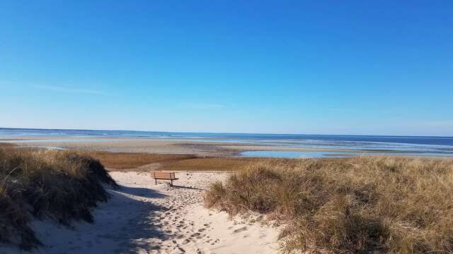 First Encounter Beach -public entrance is just down at the end of the road- Eastham Cape Cod - New England Vacation Rentals