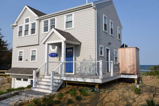 Front View of Beachfront Home -1 Bayberry Lane Eastham Cape Cod - New England Vacation Rentals