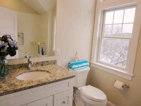 Ensuite bath to bedroom 2 on 2nd floor-  1 Bayberry Lane Eastham Cape Cod - New England Vacation Rentals
