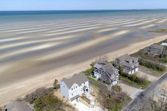 Picture from heaven looking over 1 Bayberry and the beautiful sea- 1 Bayberry Lane Eastham Cape Cod - New England Vacation Rentals