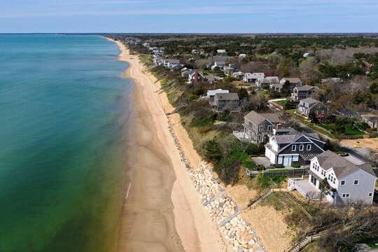 Shoreline views..Bay Dreams sits atop the Bluff watching over all..1 Bayberry Lane Eastham Cape Cod - New England Vacation Rentals