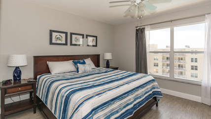 King sized bed so you can relax and spread out