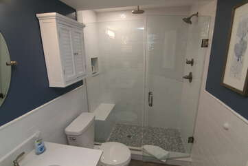 Recently updated Master Bathroom with double shower heads!