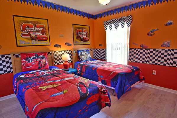 Bedroom 5 has a Cars theme