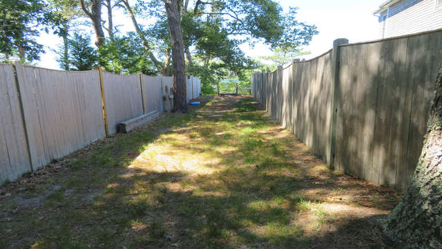 Path to the private sandy area and dock - 2 Mashpa Road Harwich Cape Cod - New England Vacation Rentals