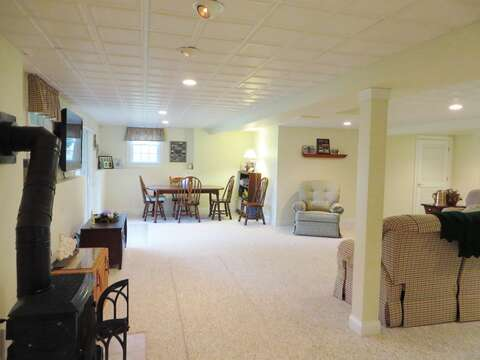 Lower level game table - 2 Mashpa Road Harwich Cape Cod - New England Vacation Rentals