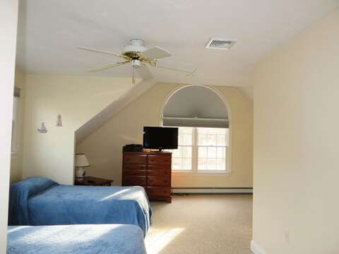 Bedroom #2 (above the garage) with 1 Queen & 2 Twin beds - 2 Mashpa Road Harwich Cape Cod - New England Vacation Rentals