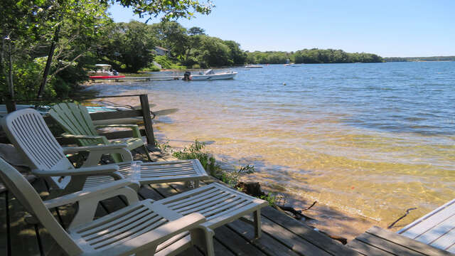 Sit back, relax and enjoy the waterfront! Just steps away down a deeded access path from the house! - 2 Mashpa Road Harwich Cape Cod - New England Vacation Rentals
