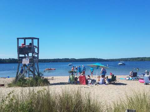 Public beach on Long Pond 0.7 mile from the house. Lifeguard on duty and bathrooms in-season - Harwich Cape Cod - New England Vacation Rentals