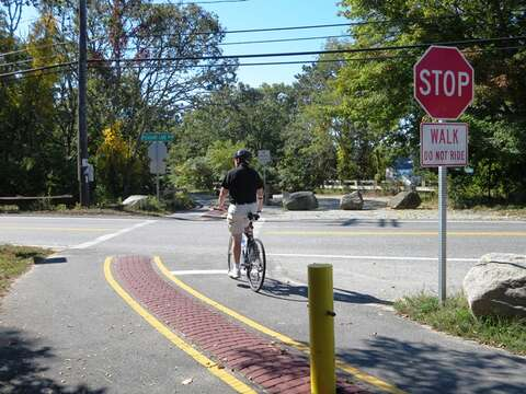 Bike path at the end of the road, access on Route 124 - Harwich Cape Cod - New England Vacation Rentals