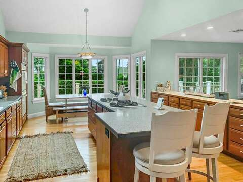 Open and updated kitchen has plenty of space to prepare a family meal - 2 Mashpa Road Harwich Cape Cod - New England Vacation Rentals