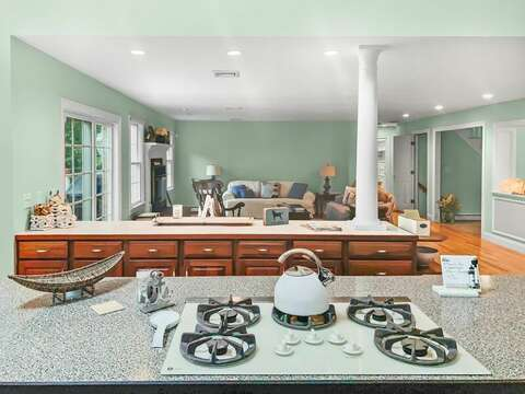 Open concept kitchen- 2 Mashpa Road Harwich Cape Cod - New England Vacation Rentals