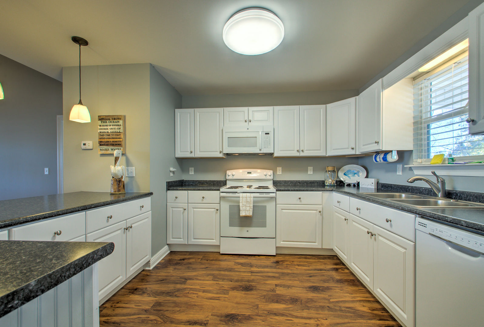Vacation Home in Orange Beach Features a Spacious Kitchen.
