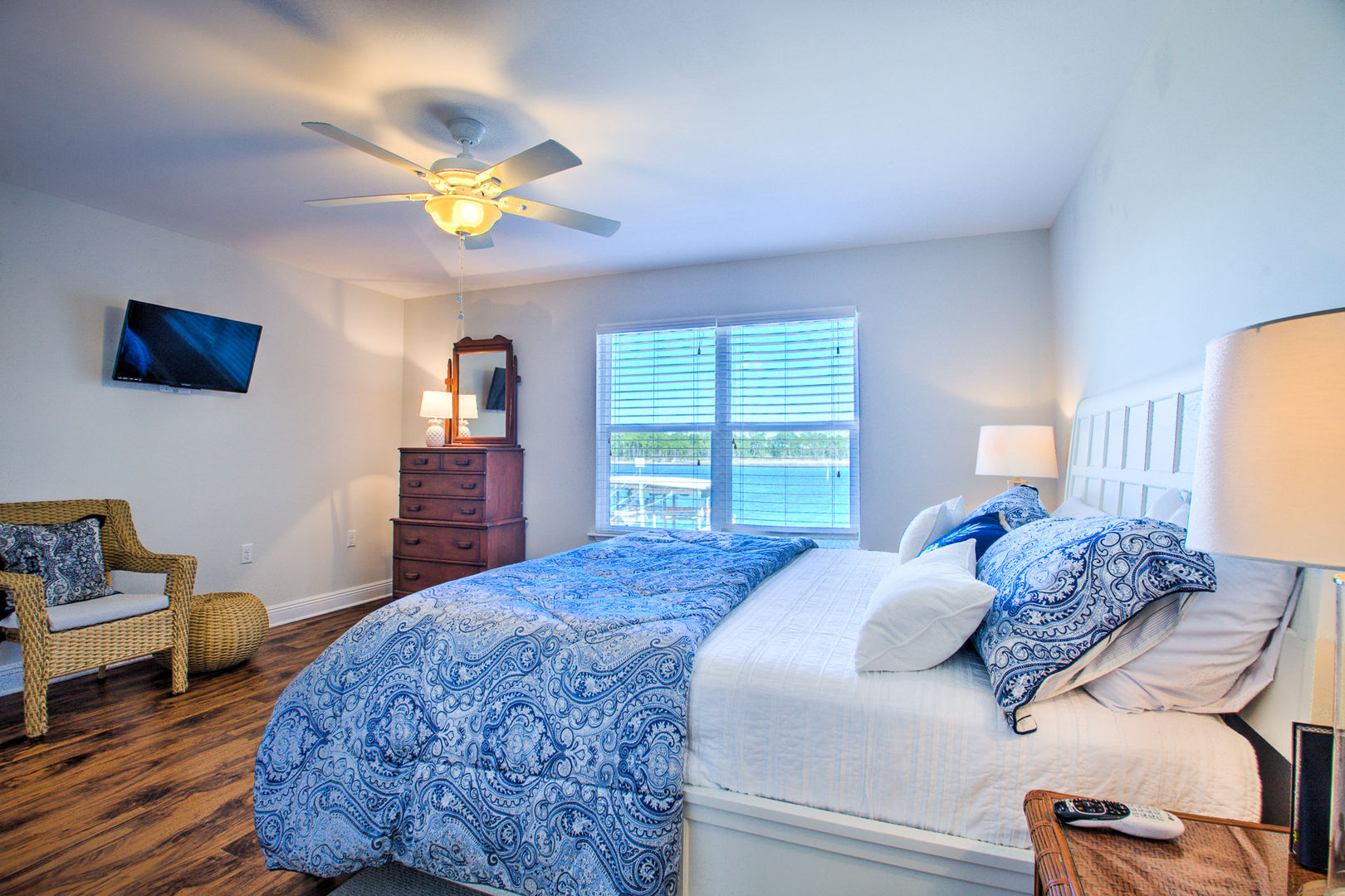 Master Bedroom Features Plenty of Natural Light From Windows.