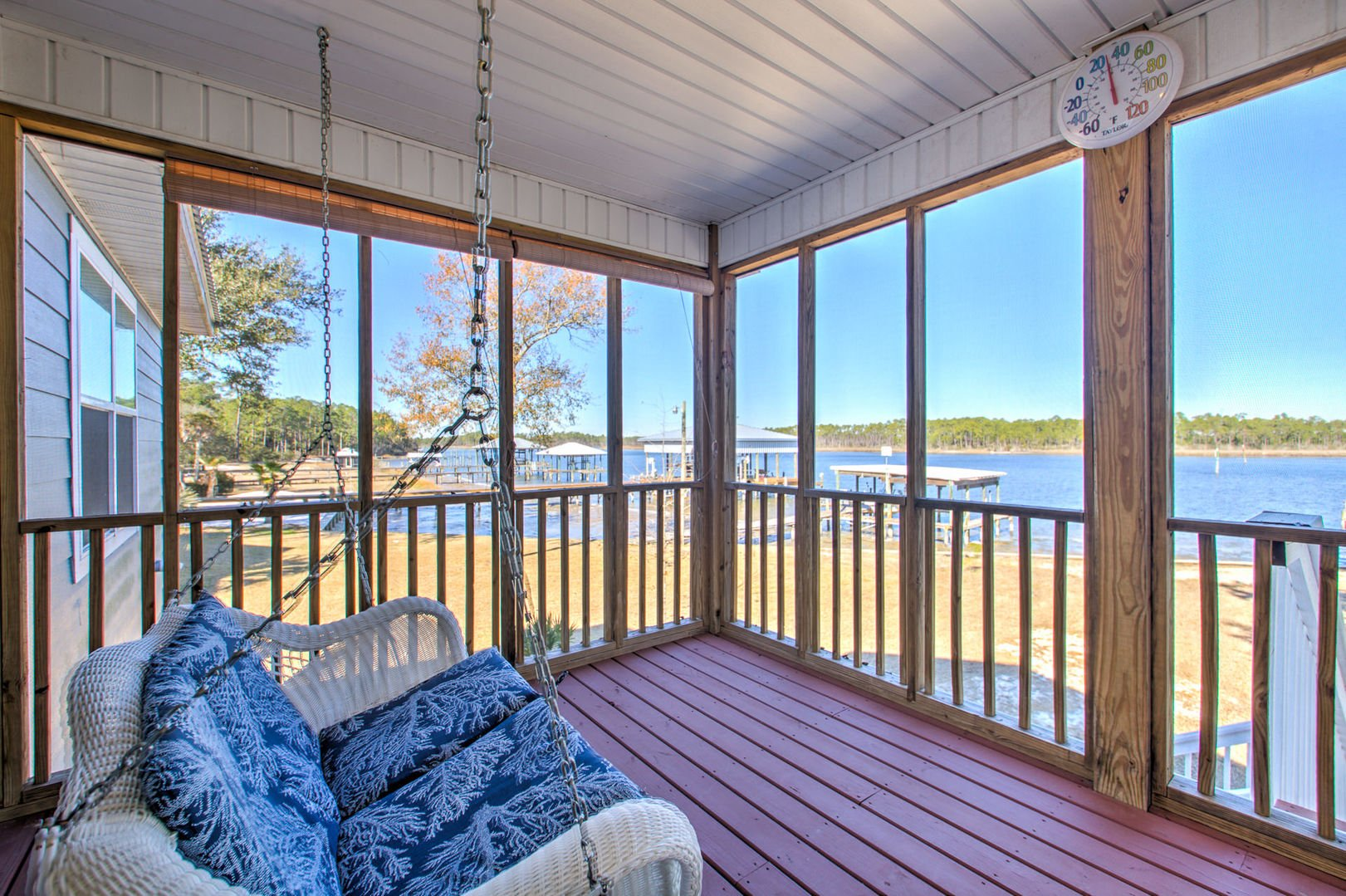 Enjoy Beautiful Views From the Porch Swing.