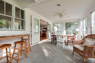 Sun Room off Living/Dining Area