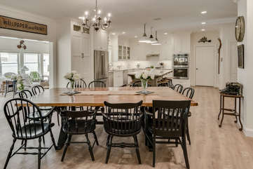 Dining Room Table Seats up to 12!