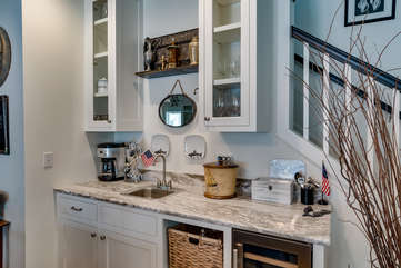 Wet Bar in Living/Dining Area