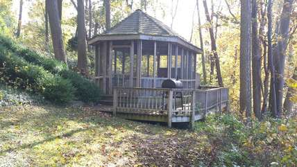 Gazebo Just Steps from the House - Offers Gas BBQ Grill