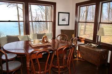 Dining Room with Lake Michigan Views