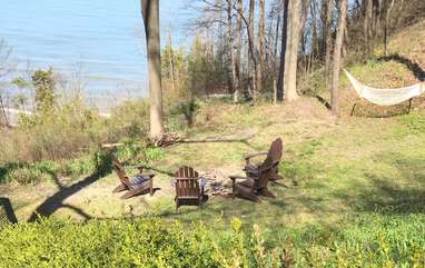Fire Pit Area with Lake Michigan Views