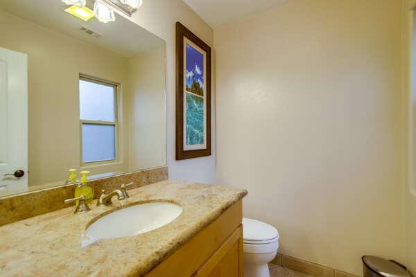 1/2 bathroom on ground level