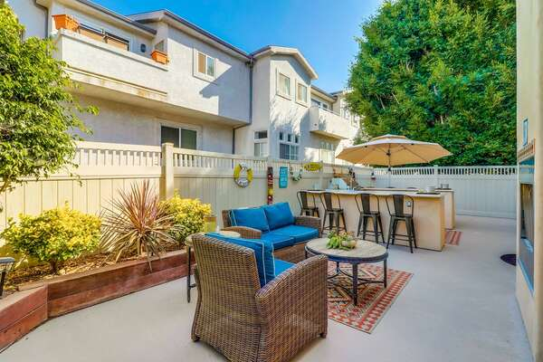 Outdoor Patio and Lounging Area at this Vacation Rental in San Diego