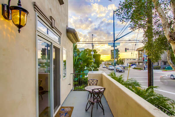 Front patio at this Vacation Rental in San Diego California