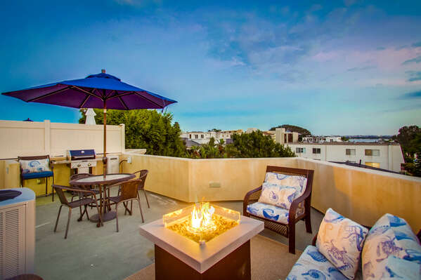 Rooftop patio at this Vacation Rental in San Diego California