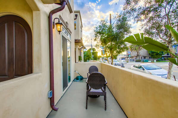 Front patio area at this Vacation Rental San Diego