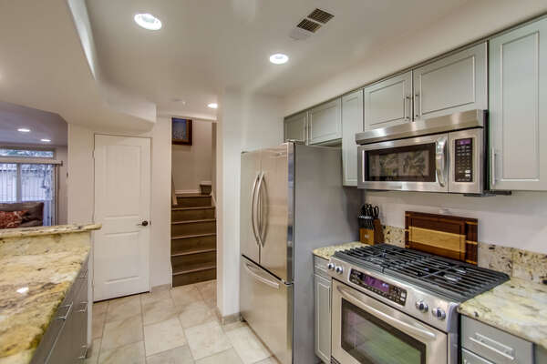 Large kitchen with updated appliance