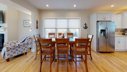 Dining Table Seats 8 + Additional Seating at Island