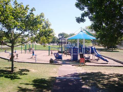 Playground in town on Depot Road  - Chatham Cape Cod - New England Vacation Rentals