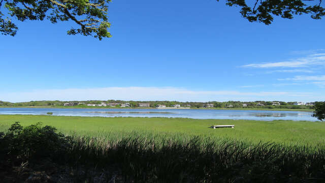 View of Bucks Creek from the yard. 84 Cranberry Lane Chatham Cape Cod - New England Vacation Rentals