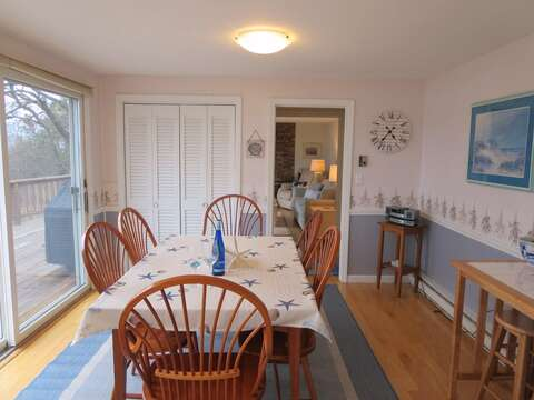 Dining table seats 6-8 & a breakfast bar with 2 stools - 84 Cranberry Lane Chatham Cape Cod - New England Vacation Rentals