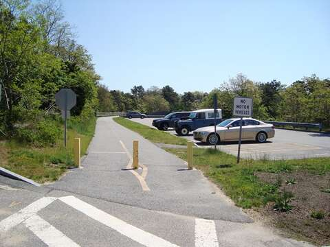 The bike path is on the corner of Route 28 and Route 137. Take a ride on The Rail Trail - Chatham Cape Cod - New England Vacation Rentals